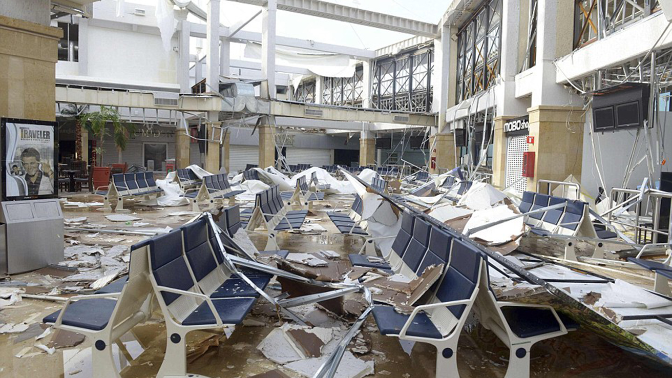 Los Cabos International Airport aftermath from hurricane odile